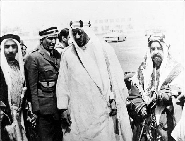 -الملك سعود والشيخ سلمان بن عيسى أل خليفة 1954م