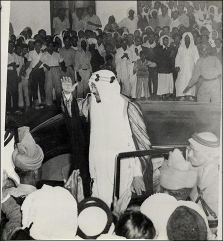 -الملك سعود وفرحة إستقبال الشعب البحريني 1954م
